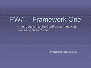 FW_1 - Framework One - Colder Fusion - Twin Cities,