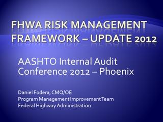 Risk Management Framework Update Training,
