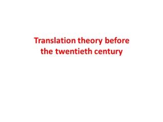 Translation theory before the twentieth century Digital slide making software