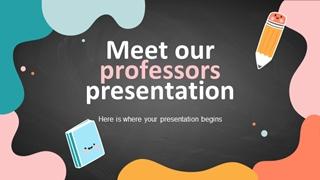 Meet Our Professors _ by Slidesgo Digital slide making software