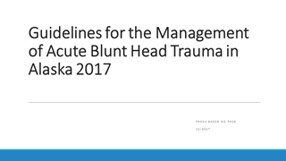 Guidelines for the Management of Acute Blunt Head Trauma,