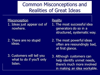 Common Misconceptions and Realities of Great Ideas, Misconception 1, Ideas just appear out of nowhere Digital slide making software