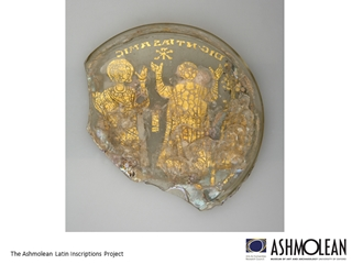 AshLIs9 earlyChristiangoldglass - The Ashmolean Latin Inscriptions Project,