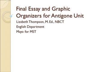 Final Essay Questions for Antigone,