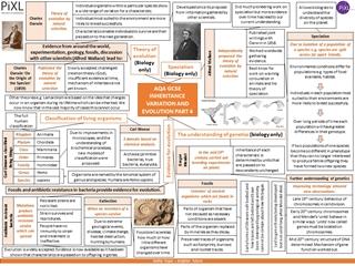 6. AQA Biology Inheritance variation evolution Knowledge MAT Digital slide making software