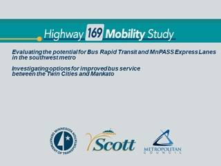Title, Evaluating the potential for Bus Rapid Transit and MnPASS Digital slide making software
