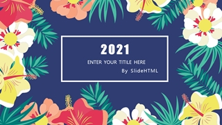 Flower Theme Presentation,Online HTML PPT displaying platform