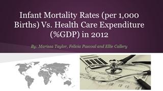 Infant Mortality Rates (per 1,000 Births) Vs. Health Care,