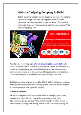 Website Designing Company In Delhi,Online HTML PPT displaying platform