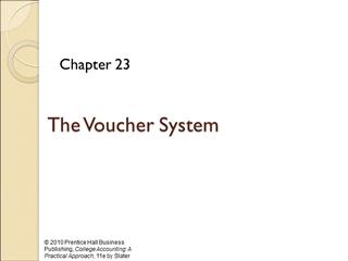 Voucher System - Pearson Education,