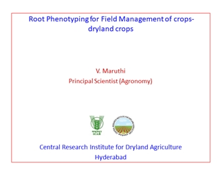 v maruthi central research institute for dryland agriculture india,