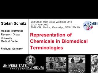 Vortragstitel - Reof Chemicals in Biomedical Terminologies, Stefan Schulz Medical Informatics Research Group Center Freiburg Digital slide making software