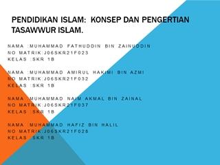 PENDIDIKAN ISLAM HAFIZ Digital slide making software