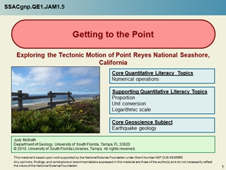 Development Template - Getting to the Point, Exploring the Tectonic Motion of Point Reyes National Seashore,