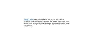 Velvet Caviar,Online HTML PPT displaying platform