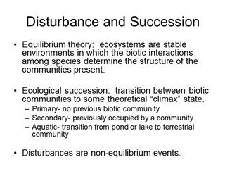Disturbance and Succession - Penn State York,