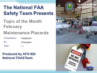 TOM February 2018 Maintenance Placards Digital slide making software