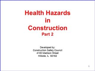 Health Hazards in Construction,