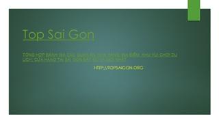 Top Sai Gon,Online HTML PPT displaying platform