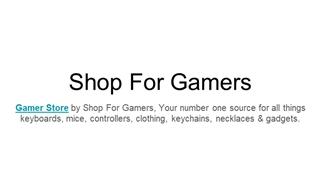 Gaming Stores,Online HTML PPT displaying platform
